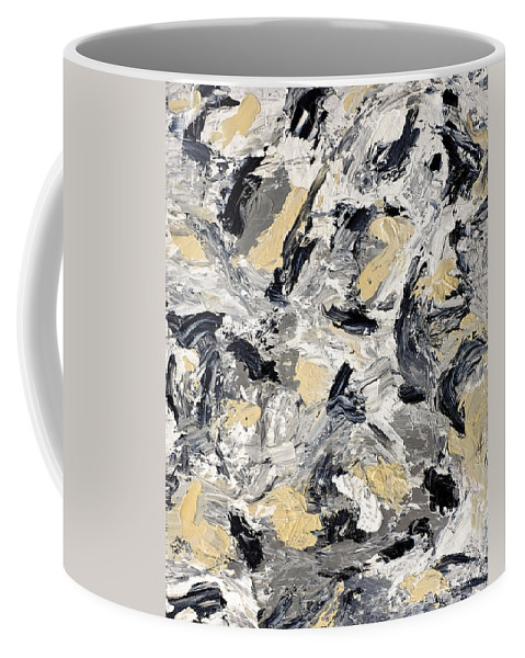 Abstract Coffee Mug featuring the painting Frolicking by Dick Bourgault