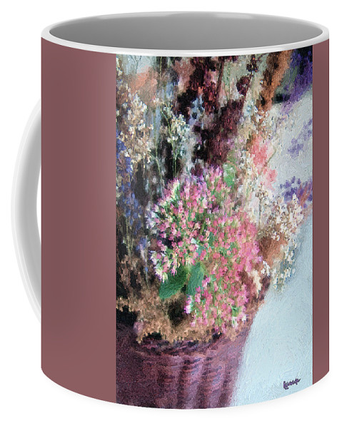 Basket Coffee Mug featuring the digital art From Her Secret Admirer by RC DeWinter