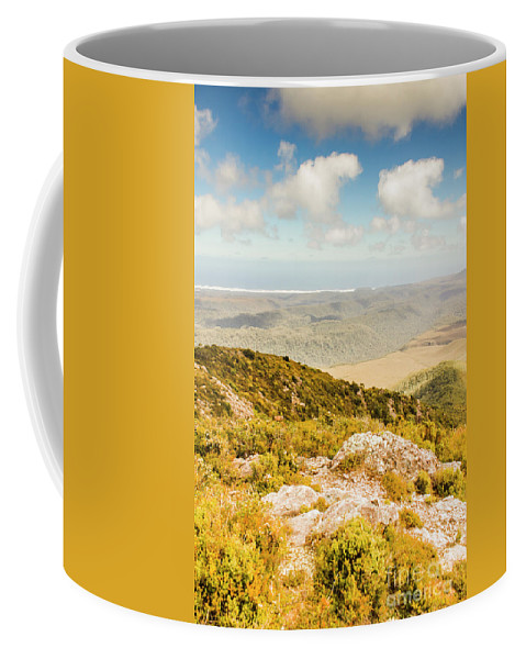 Mountain Coffee Mug featuring the photograph From Mountains To Seas by Jorgo Photography - Wall Art Gallery