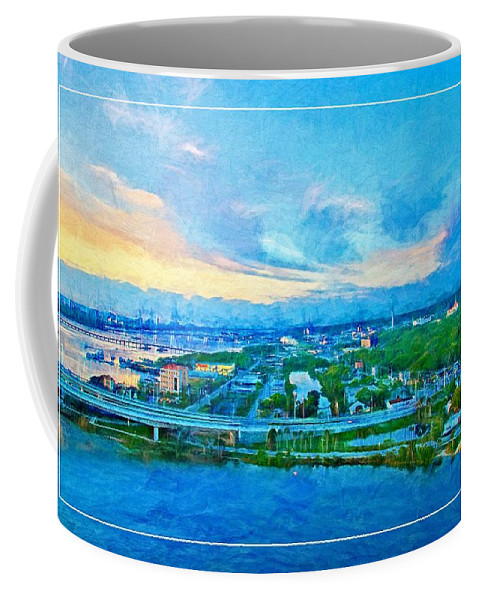 Landscape Coffee Mug featuring the photograph From My Window by Alice Gipson