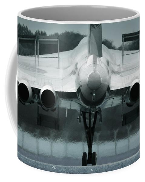 Avro Vulcan Coffee Mug featuring the photograph From The Back by Angel Ciesniarska