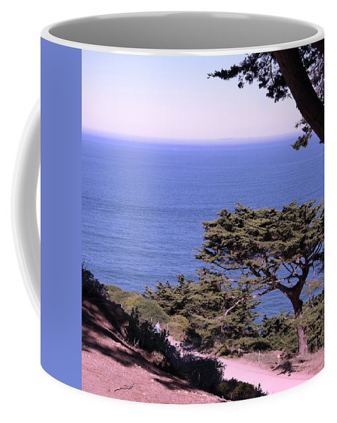 Landscape Coffee Mug featuring the photograph From The Cliff Of Lands' End 02 by Pusita Gibbs