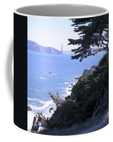 Landscape Coffee Mug featuring the photograph From The Cliff Of Lands' End 04 by Pusita Gibbs