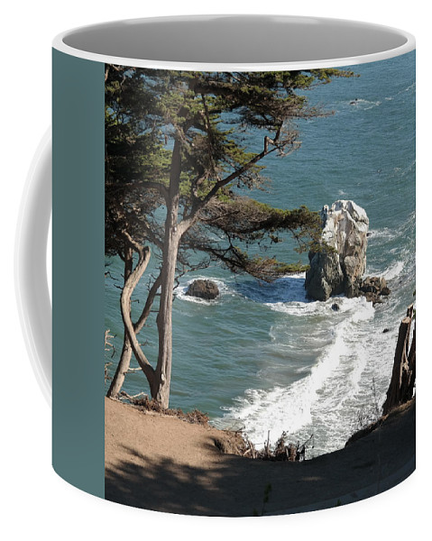 Landscape Coffee Mug featuring the photograph From The Cliff Of Lands' End by Pusita Gibbs