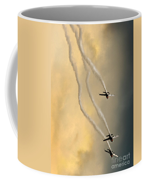 Blades Coffee Mug featuring the photograph From The Skies by Angel Tarantella