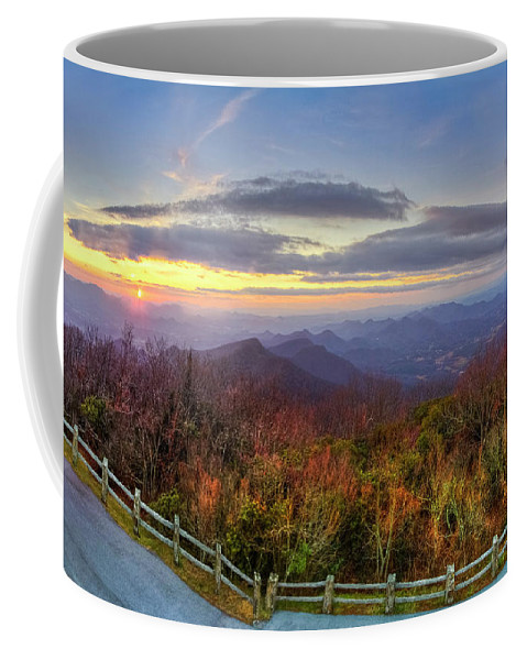 Appalachia Coffee Mug featuring the photograph From The Top Of Brasstown Bald by Debra and Dave Vanderlaan