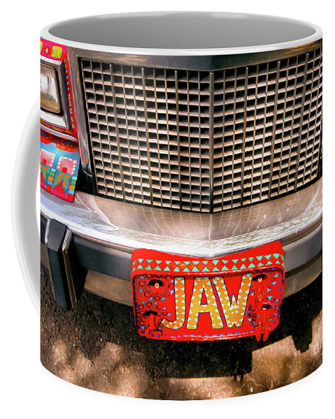 Car Coffee Mug featuring the photograph Front Of The Car - Grill And Plate by Kathleen K Parker