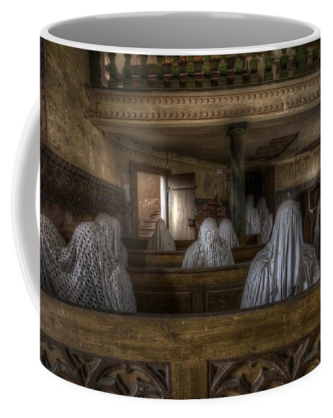 Ghostly Coffee Mug featuring the digital art Front Row by Nathan Wright
