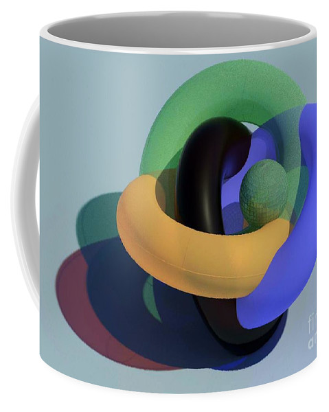 Torus Coffee Mug featuring the glass art Frosted Glass Toruses by Ron Bissett
