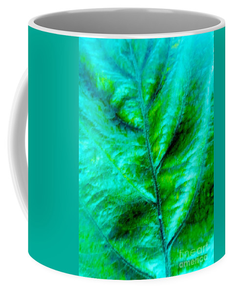 Frosted Leaf Coffee Mug featuring the photograph Frosted Leaf by Tim Townsend