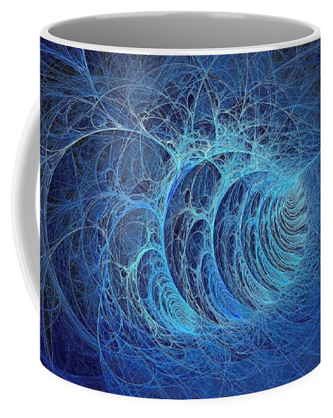 Coffee Mug featuring the digital art Frosty Briar Patch by Doug Morgan