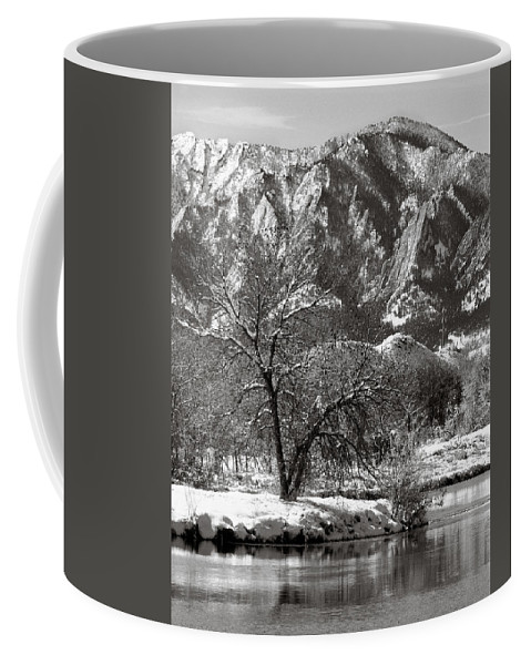 Colorado Coffee Mug featuring the photograph Frosty Flatirons 2 by Marilyn Hunt