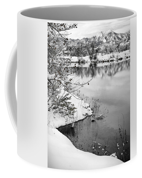 Colorado Coffee Mug featuring the photograph Frosty Flatirons by Marilyn Hunt