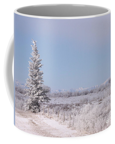 Scenic Coffee Mug featuring the photograph Frosty Landscape by Greg Hammond