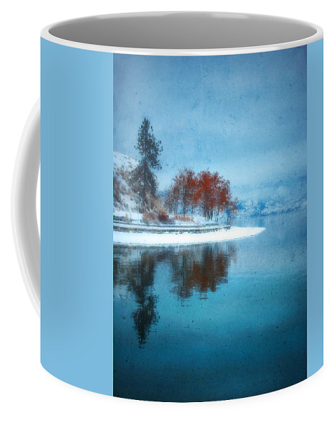 Blue Coffee Mug featuring the photograph Frosty Reflection by Tara Turner