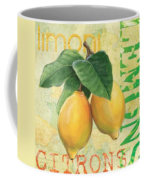Lemon Coffee Mug featuring the painting Froyo Lemon by Debbie DeWitt