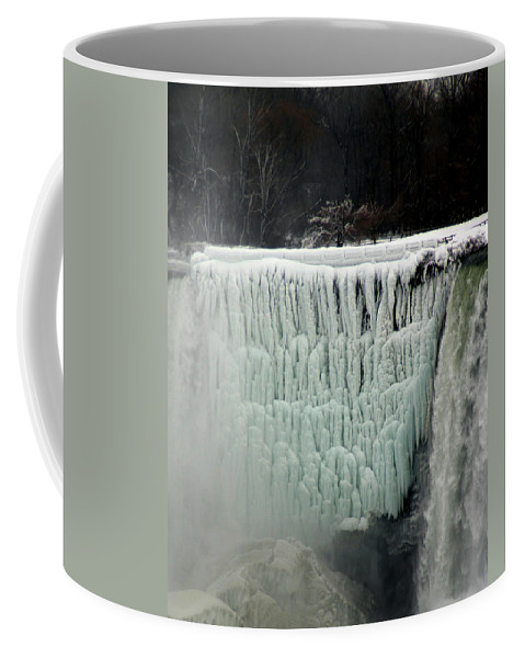 Landscape Coffee Mug featuring the photograph Frozen Falls by Anthony Jones