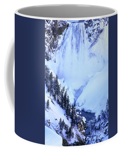 North America Coffee Mug featuring the photograph Frozen In Time Yellowstone National Park by Dave Welling