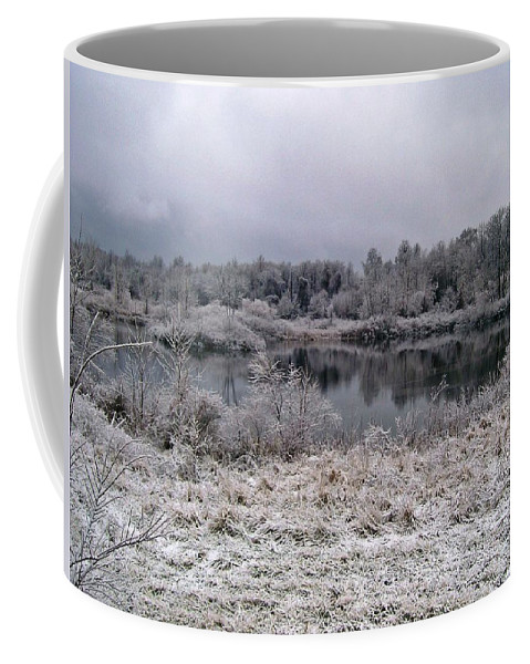 Ice Coffee Mug featuring the photograph Frozen by Jimmie Blacker