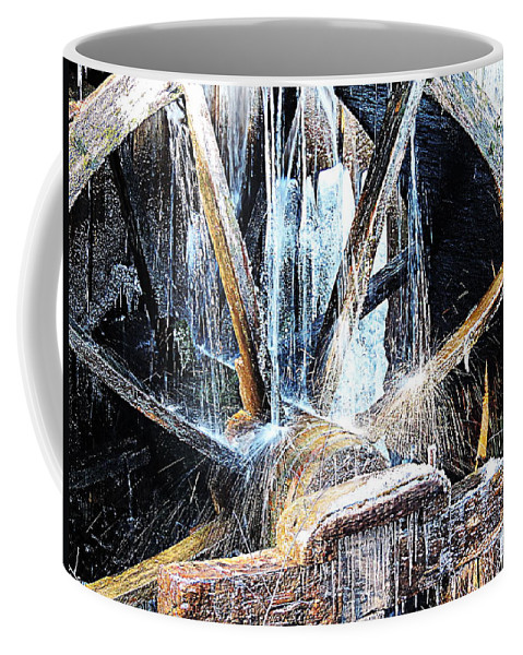 Cades Cove Coffee Mug featuring the photograph Frozen - John P. Cable Grist Mill by Roe Rader