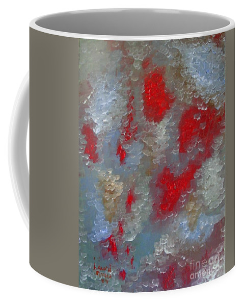 Abstract Coffee Mug featuring the painting Frozen Street by Laurie Morgan