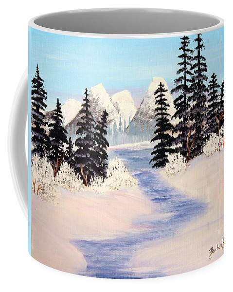 Frozen Tranquility Coffee Mug featuring the painting Frozen Tranquility by Barbara Griffin