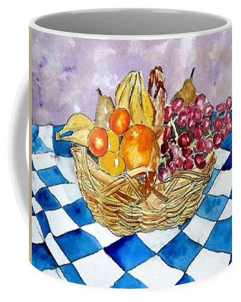Fruit Basket Coffee Mug featuring the painting Fruit Basket Still Life 2 Painting by Derek Mccrea