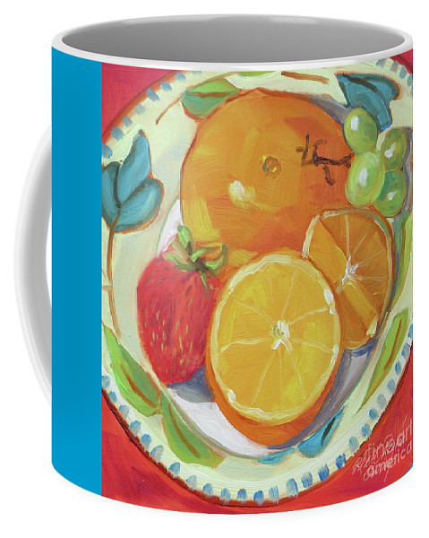 Still Life Coffee Mug featuring the painting Fruit Bowl by Rhett Regina Owings