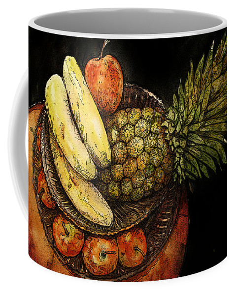Fruit Coffee Mug featuring the painting Fruit In The Round by Shirley Sykes Bracken