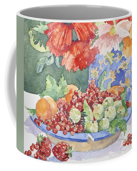 Still-life Coffee Mug featuring the painting Fruit On A Plate by Jennifer Abbot