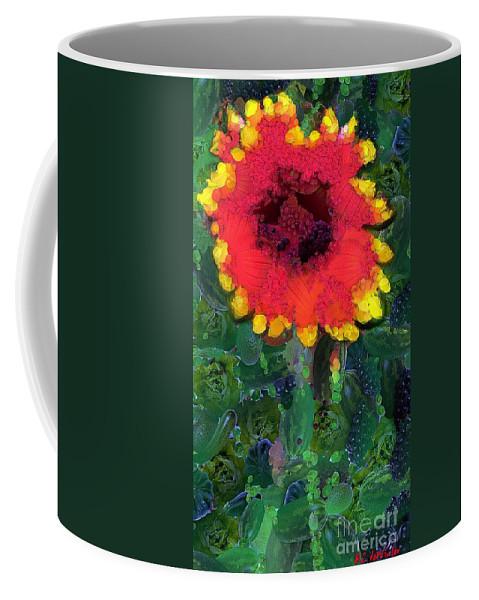 Arcimboldo Coffee Mug featuring the painting Fruit Salad Flower by RC DeWinter