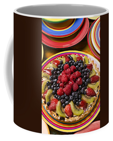 Fruit Coffee Mug featuring the photograph Fruit Tart Pie by Garry Gay
