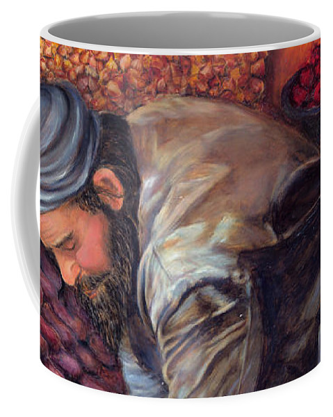 Figurative Painting Coffee Mug featuring the painting Fruit Vendor by Portraits By NC