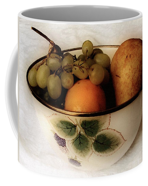Bowl Coffee Mug featuring the painting Fruitbowl Retro by RC DeWinter
