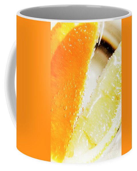 Slice Coffee Mug featuring the photograph Fruity Drinks Macro by Jorgo Photography - Wall Art Gallery