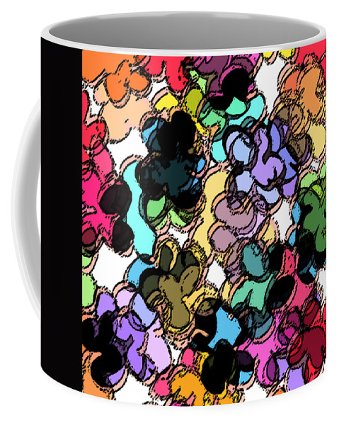 Abstract Coffee Mug featuring the digital art Fruity by Rachel Christine Nowicki