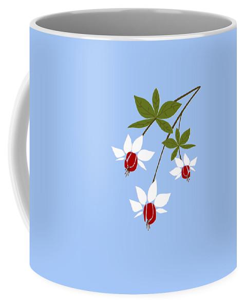 Fuchsia Coffee Mug featuring the digital art Fuchsia by Anastasiya Malakhova