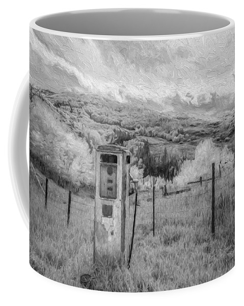 Art Coffee Mug featuring the digital art Fuel The Valley II by Jon Glaser