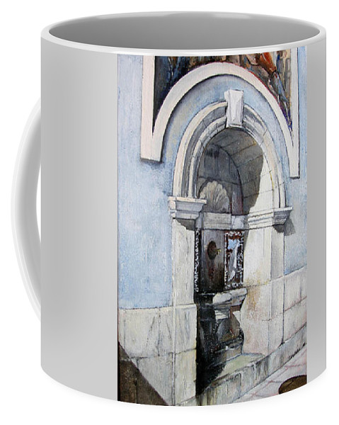 Fuente Coffee Mug featuring the painting Fuente Castro Urdiales by Tomas Castano