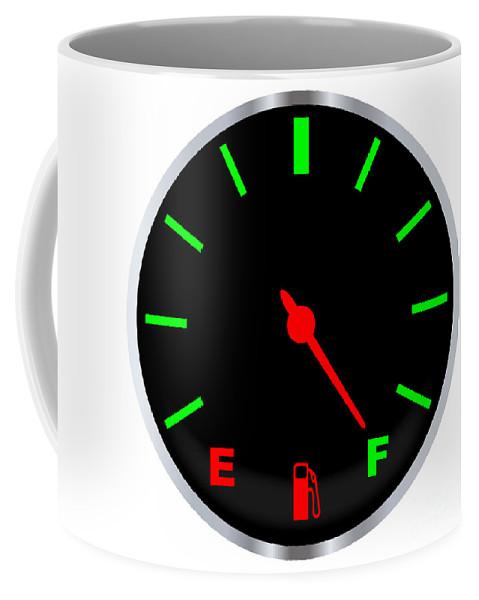 Fuel Coffee Mug featuring the digital art Full Fuel Gauge by Bigalbaloo Stock