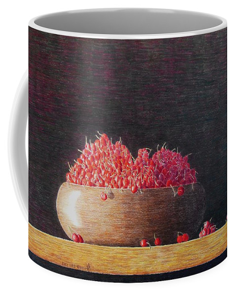 Still Life Coffee Mug featuring the painting Full Life by A Robert Malcom