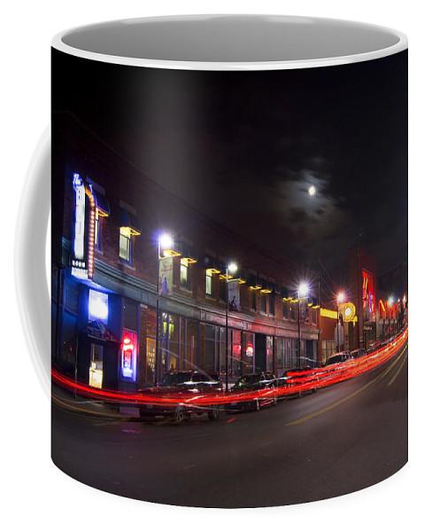 Kansas City Coffee Mug featuring the photograph Full Moon And Night Clubs by Sven Brogren