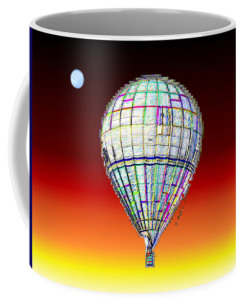 Moon Coffee Mug featuring the photograph Full Moon Balloon by Tim Allen