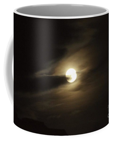 Art Coffee Mug featuring the photograph Full Moon Howling by Clayton Bruster