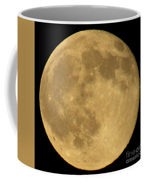 Full Moon Lunar Landscapes Nocturnal Nature Photography Moonscapes Alien Landscapes Moons Of The Milky Way Galaxy Moonscapes Lunarscapes Astrology Astro Images Astronomy Earth's Moon Coffee Mug featuring the photograph Full Moon by Joshua Bales