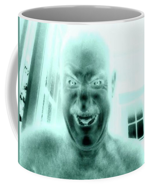 Scary Coffee Mug featuring the photograph Full Moon by Michael French