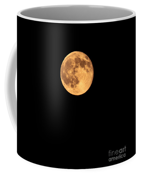 Night Coffee Mug featuring the photograph Full Moon by Robert Bales