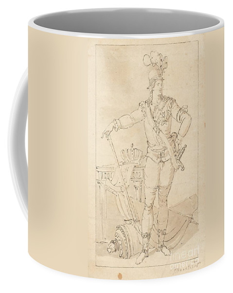 Louis Masreliez Attributed To Coffee Mug featuring the painting Fullfigure Portrait Of King Gustaf by MotionAge Designs