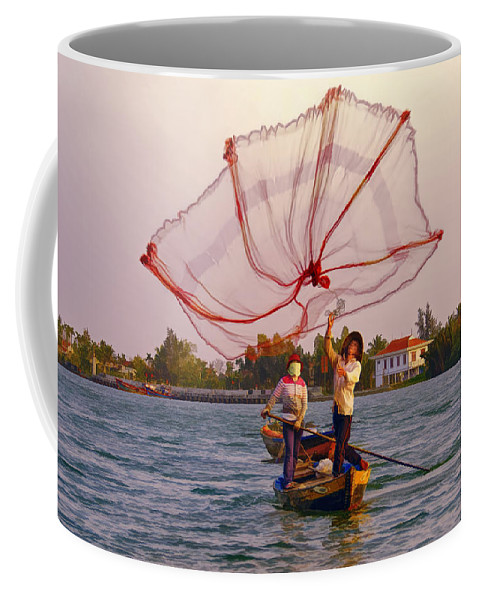 Vietnam Coffee Mug featuring the photograph Fully Deployed by Claude LeTien