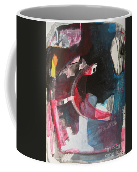 Abstract Paintings Paintings Abstract Art Paintings Coffee Mug featuring the painting Fumbling With Memory by Seon-Jeong Kim